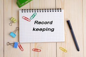 Record keeping.